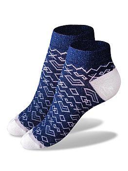členkové ponožky modrobiele