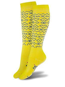podkolienky čičmany žlté