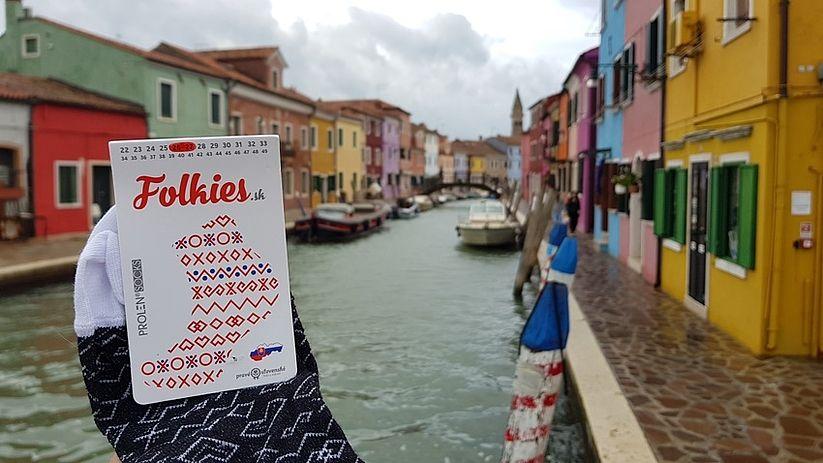Ponožky Folkies Benátky