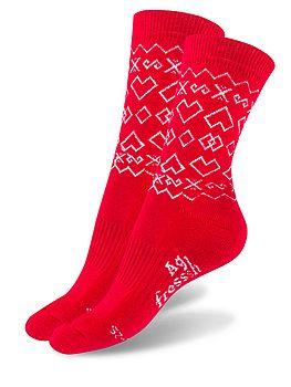 trekingové ponožky červené