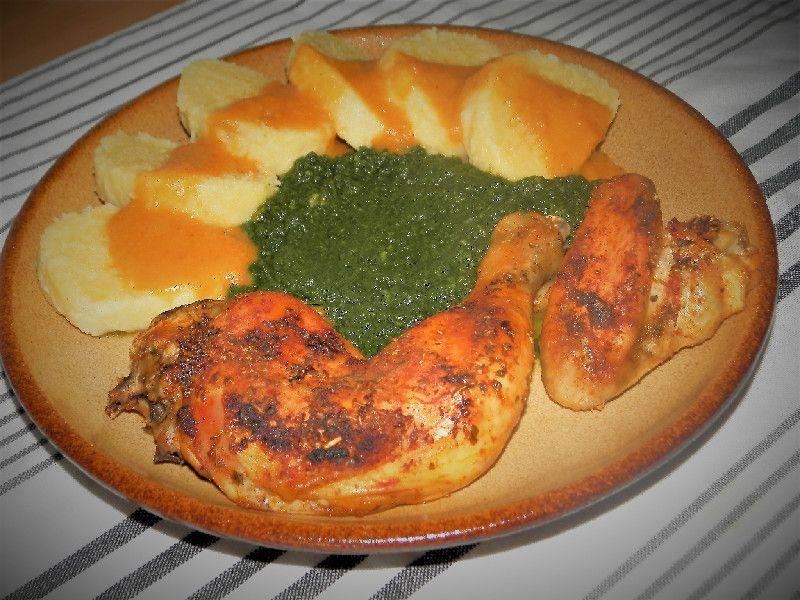zemiakový knedlík s mäsom