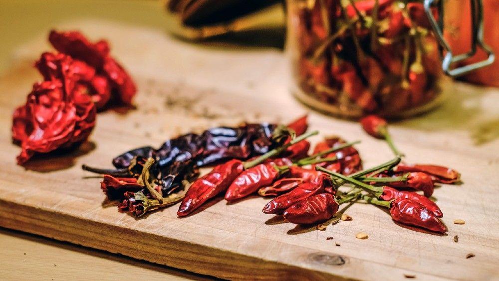 sušené čili papričky