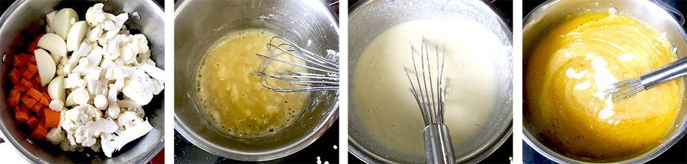 syrová polievka s karfiolom