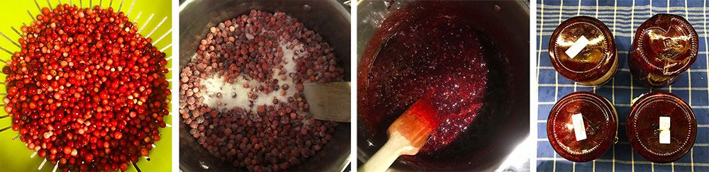 brusnicový džem príprava